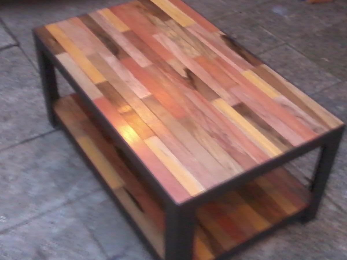 mesas rusticas de hierro y madera estilo industrial