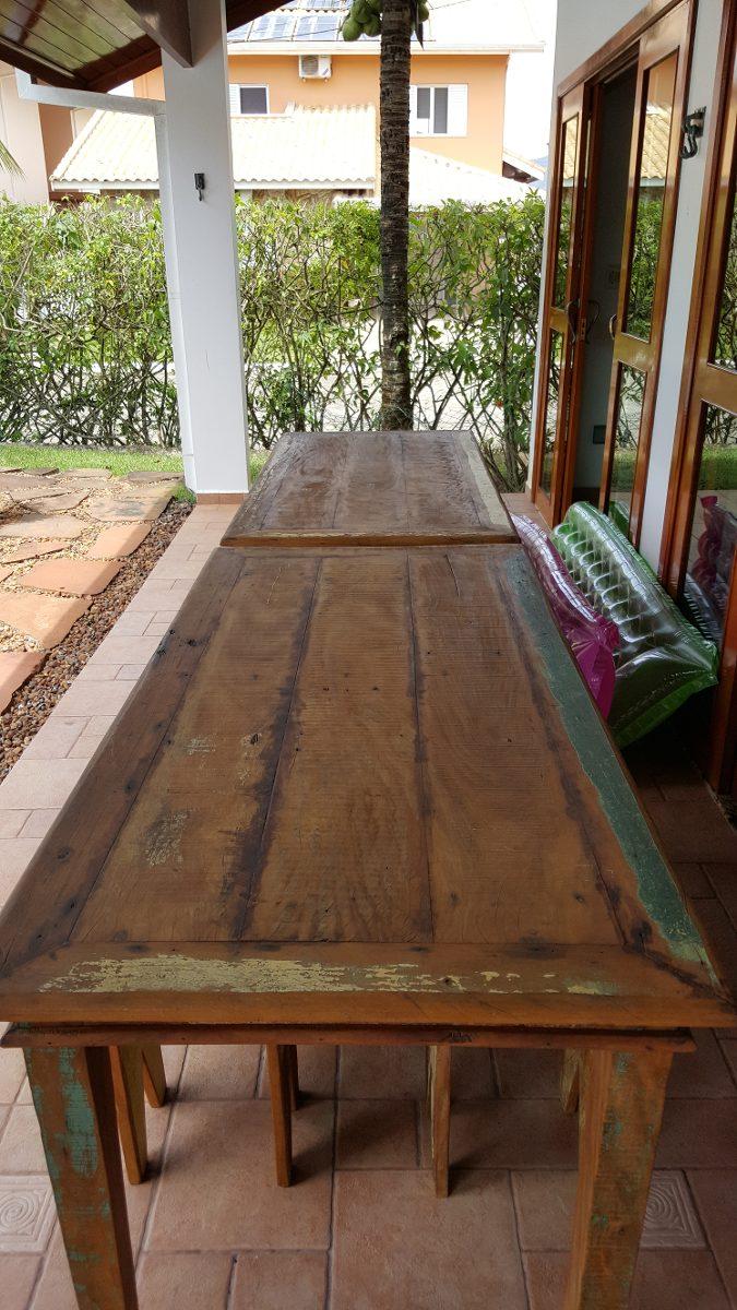 Mesas rusticas de madeira r em mercado livre - Mesas de noche rusticas ...