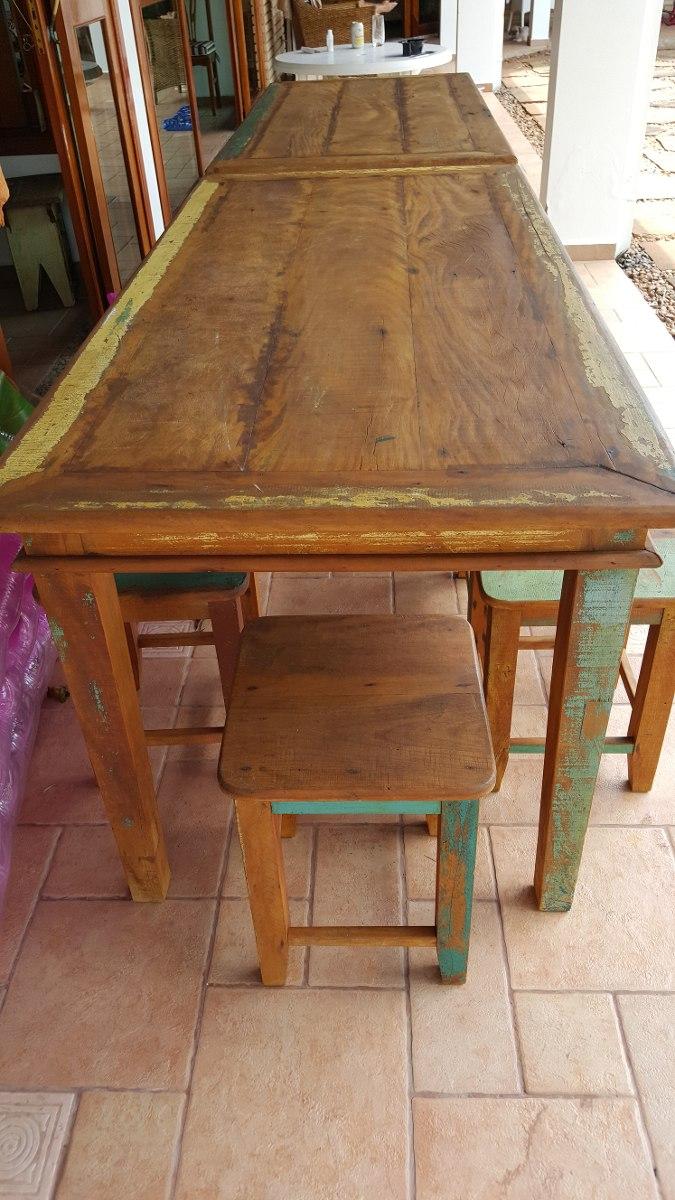 Mesas rusticas de madeira r em mercado livre for Mesas rusticas