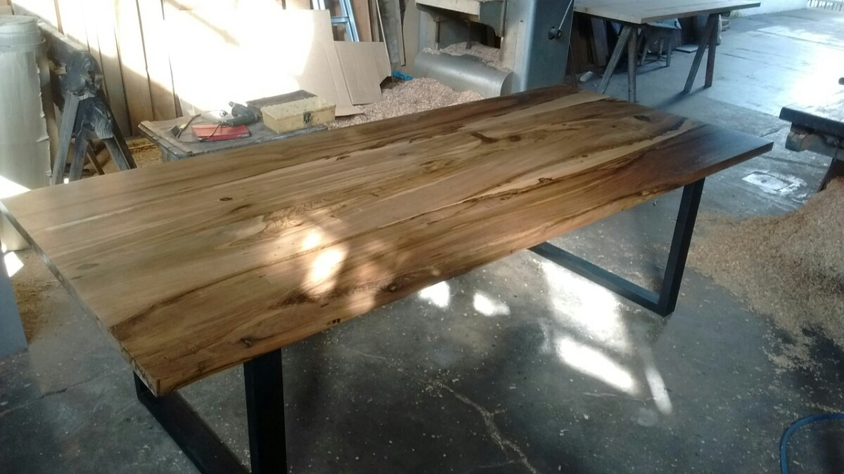 mesas rusticas de madera maciza