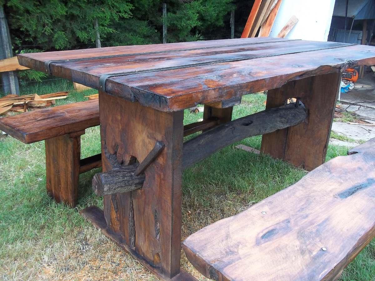 Barbacoas de lea para jardin great good a continuacin usa for Imagenes de mesas rusticas