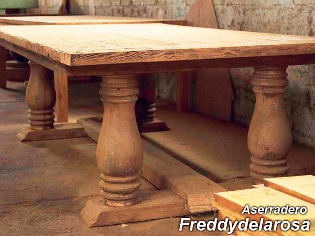 Mesas rusticas pino tea madera antigua u s 15 00 en for Mesas antiguas rusticas