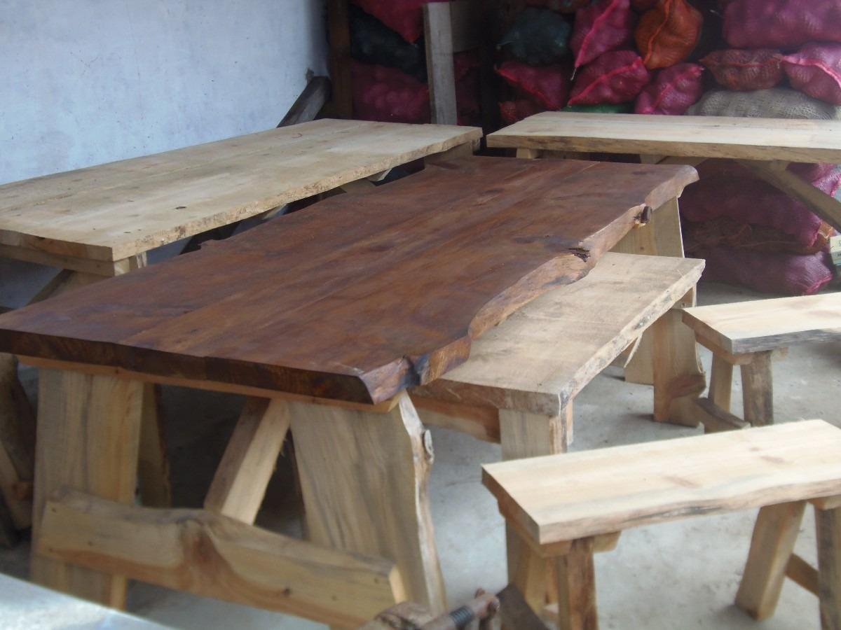 Mesas rusticas tabla asado 390 390 00 en mercado libre - Mesas de madera para exterior ...