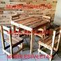 Mesa Comedor 4 Sillas Para Cafe Cafetin Restaurante Jardin