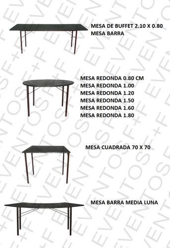 mesas silla copas vasos platos hornos puff manteleria