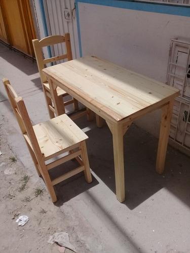 mesas sillas  .muebles sobre medidas  en pino .