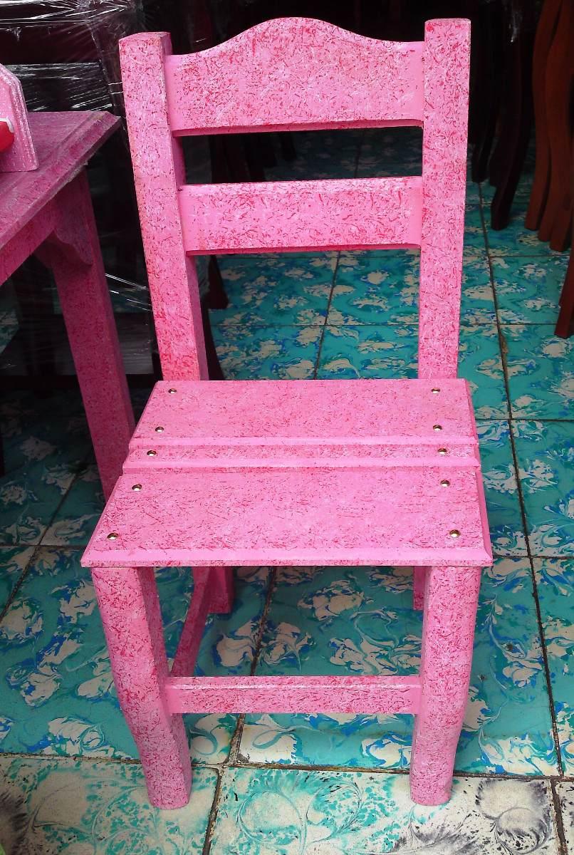 Mesas sillas y banca infantil en madera artesanal 680 - Mesa infantil madera ...