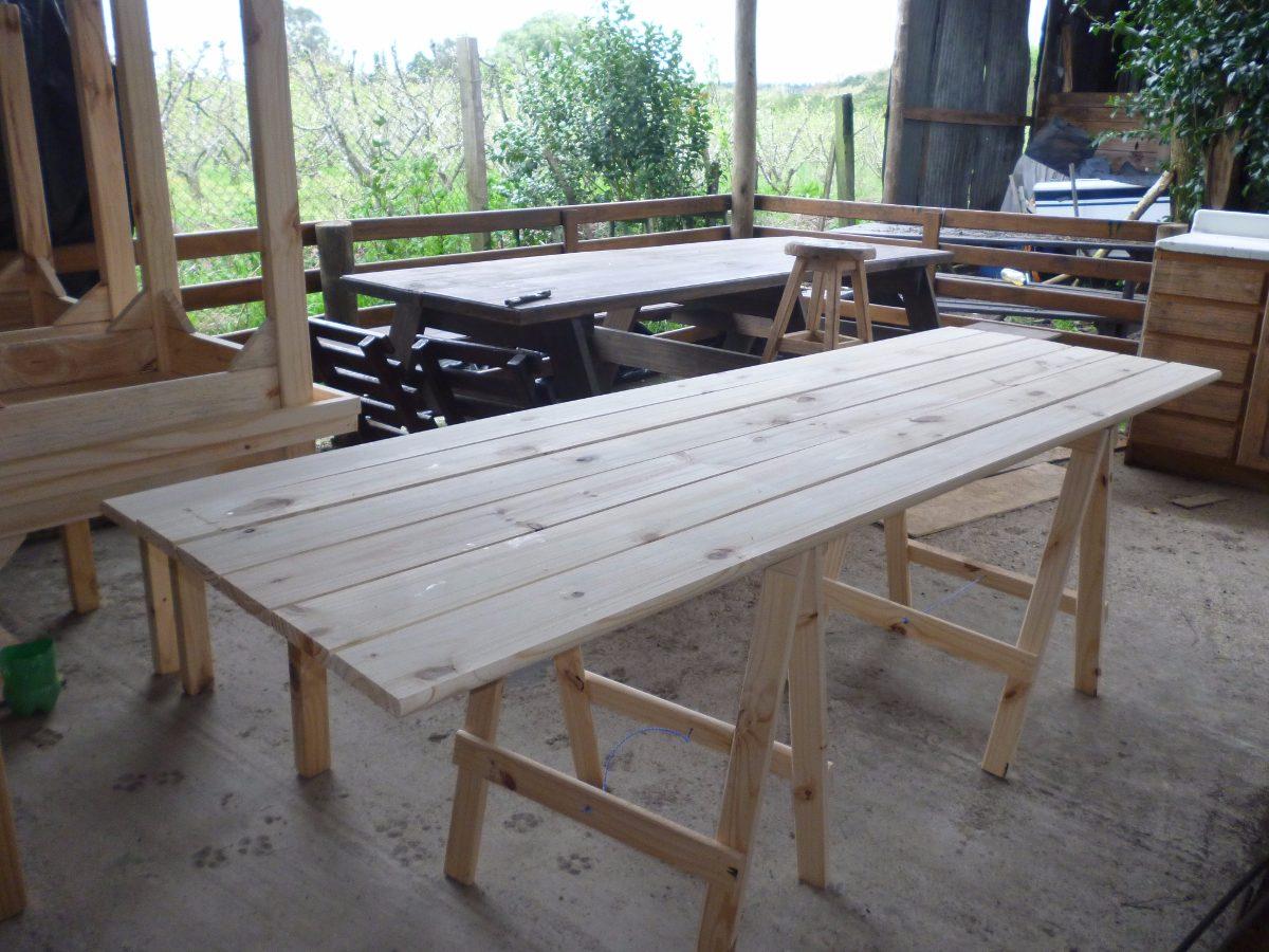 Mesas tablon con caballetes en mercado libre - Mesa con caballetes ...