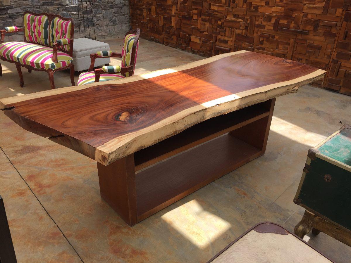 Mesa realizada con tablones de madera revista muebles - Mesas de madera para exterior ...