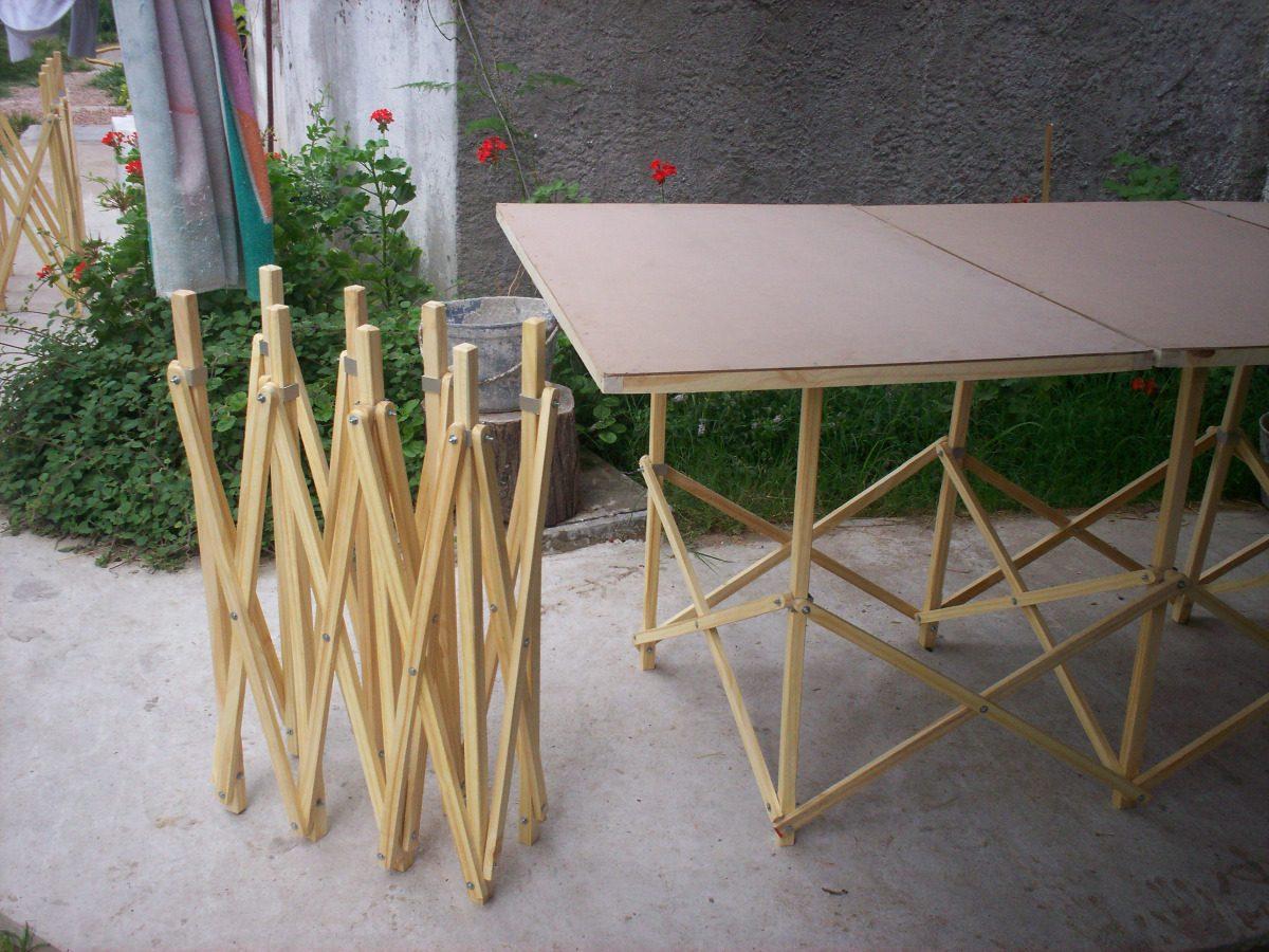 Mesas y caballetes plegables para hogar feria o camping - Mesa con caballetes ...