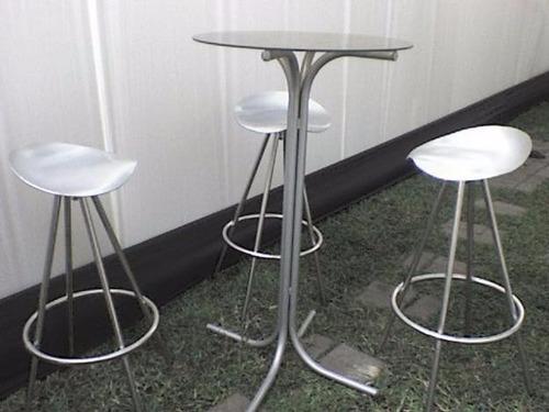 Mesas y sillas altas de bar s 80 00 en mercado libre - Mesas altas de bar ...