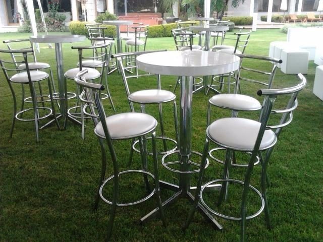 Mesas y sillas altas de bar cromadas y pintadas s 70 00 en mercado libre - Mesas altas de bar ...