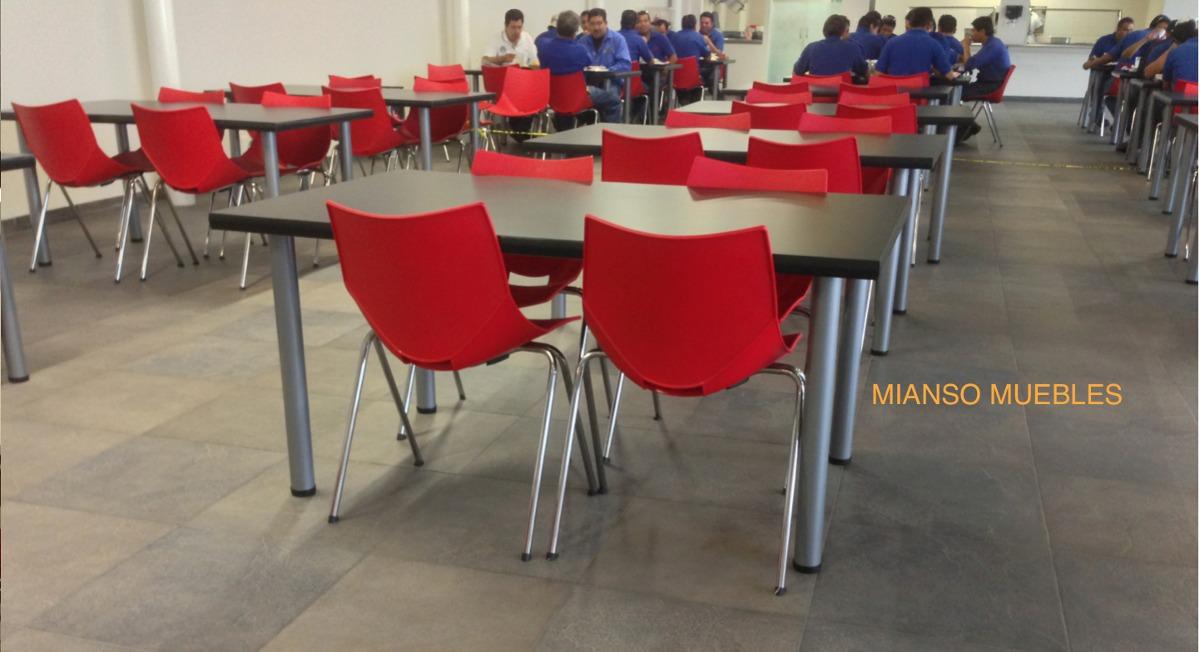 Mesas y sillas comedores industriales 3 en for Sillas plasticas comedor