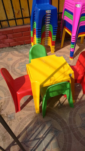 mesas y sillas infantiles
