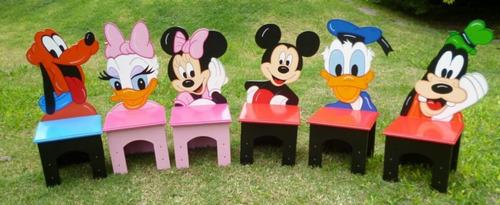 mesas y sillas infantiles baules guardajuguetes