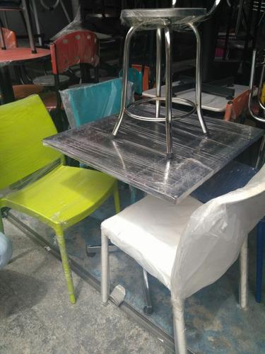 Mesas y sillas para cafeter a en mercado libre - Sillas para cafeteria ...