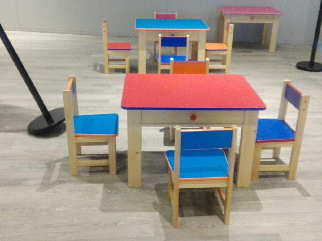 Mesas y sillas para inicial jardin colegios s 220 00 for Muebles colegio
