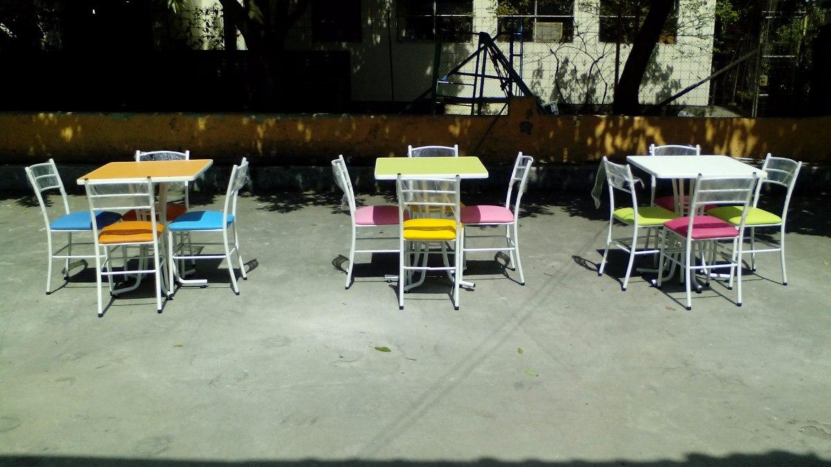 Mesas y sillas para restaurante bar cafeter a heladeria for Bar mercado libre