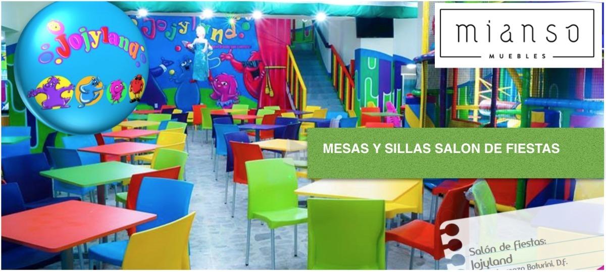 Mesas Y Sillas Para Salón De Fiestas Infantiles - $ 2,890.00 en ...