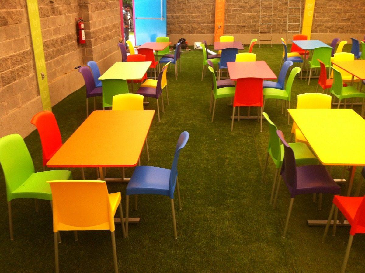 Mesas y sillas para sal n de fiestas infantiles 2 890 - Mesas plegables para salon ...