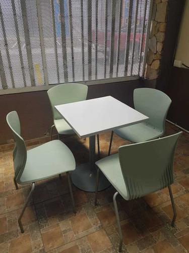 mesas y sillas para soda