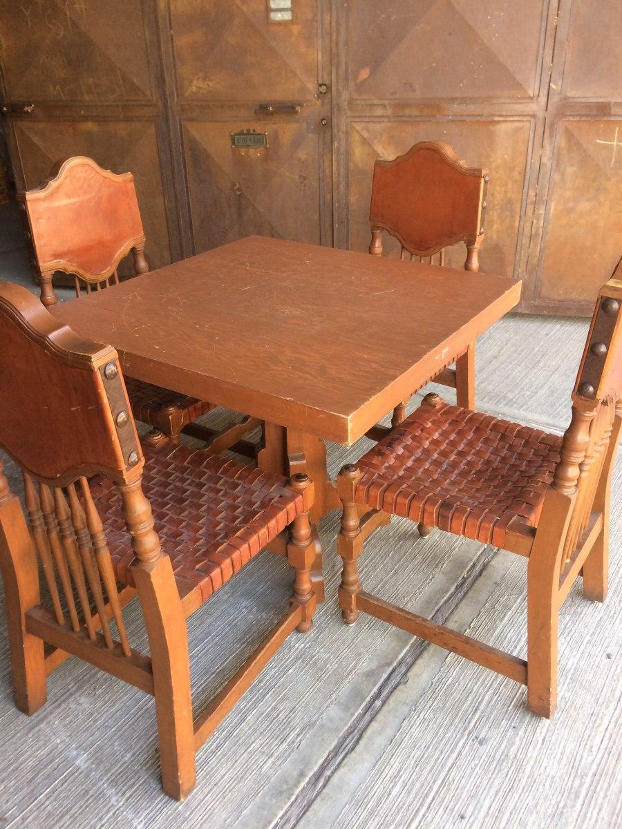 Mesas y sillas r sticas colonial 6 en mercado libre for Mercado libre mesas y sillas