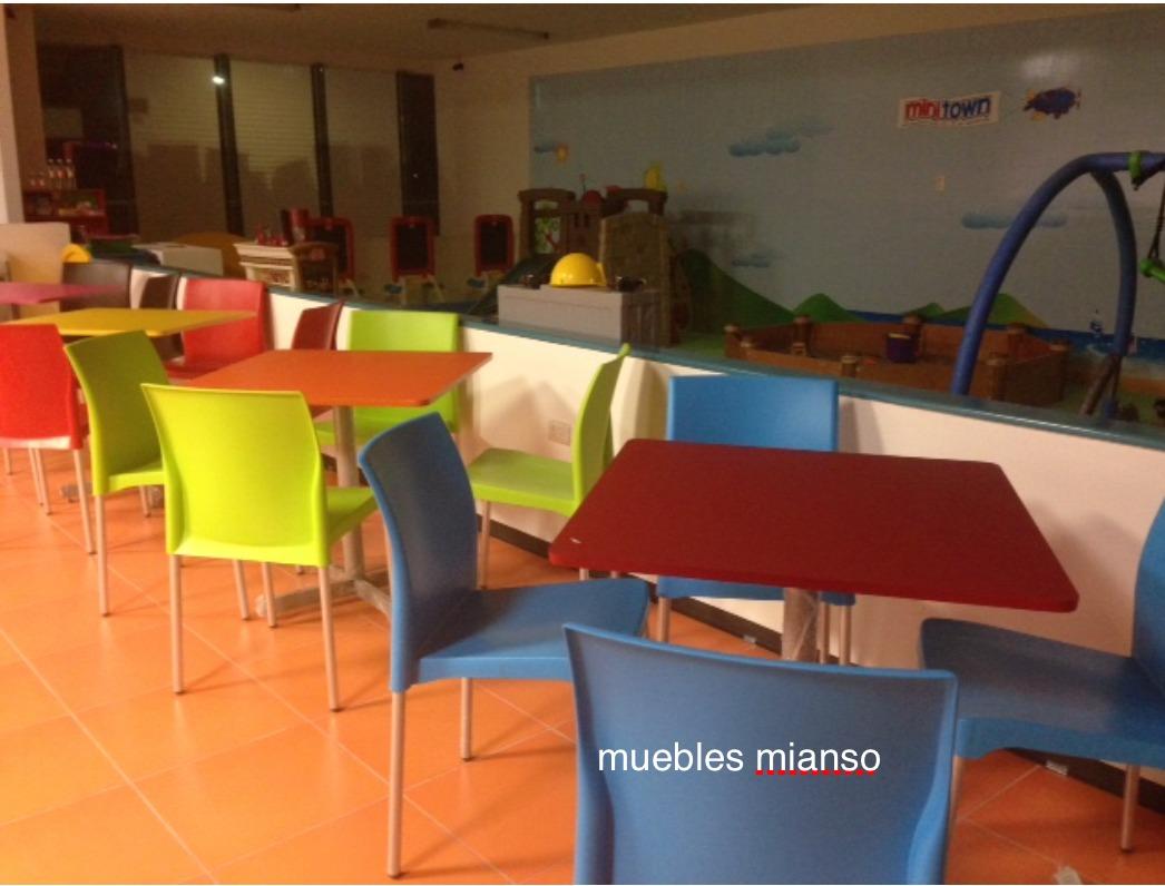 Mesas y sillas sal n de fiestas 2 en mercado libre for Sillas apilables salon