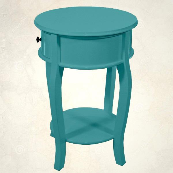 Artesanato Arame ~ Mesinha Criado Provençal Azul Turquesa Perfeito Estado R$ 1 500,00 em Mercado Livre