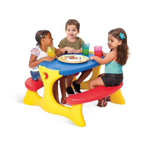 mesinha plastica bandeirante mesa recreio até 4 pessoas 7153