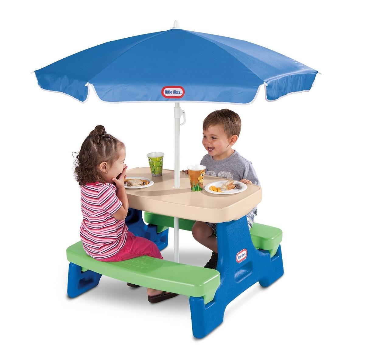 Mesita con sombrilla little tikes ni os infantil juego - Mesita con sillas infantiles ...