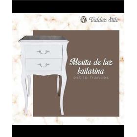 Mesita De Luz Bailarina Estilo Francés