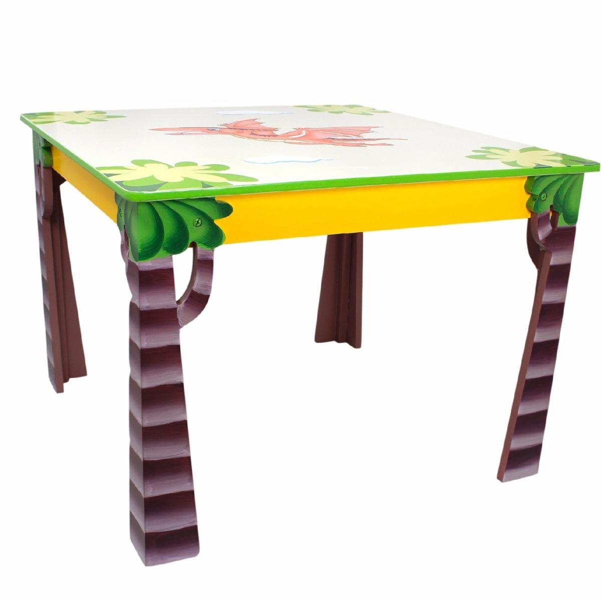 Mesita de madera infantil juego 2 sillas dise o for Silla infantil diseno