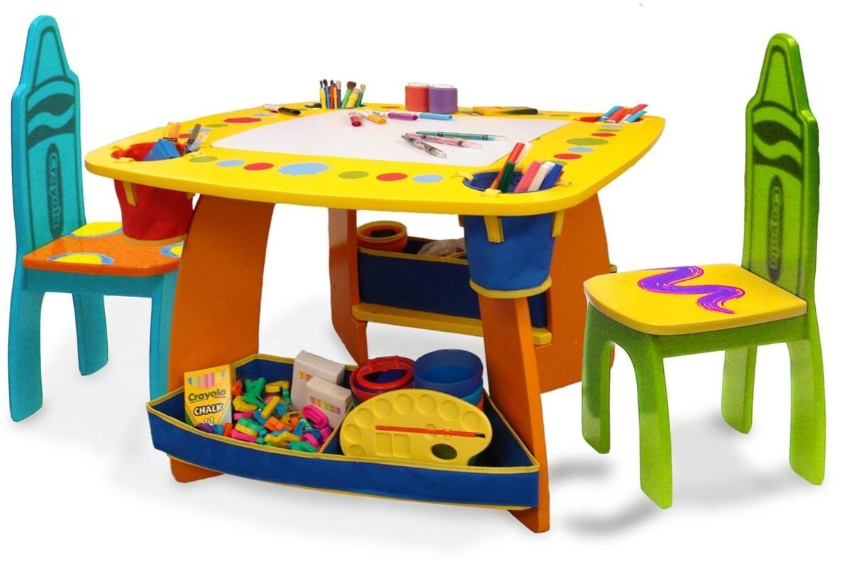 mesita mesa infantil sillas crayola ni os actividades fn4 3 en mercado libre. Black Bedroom Furniture Sets. Home Design Ideas