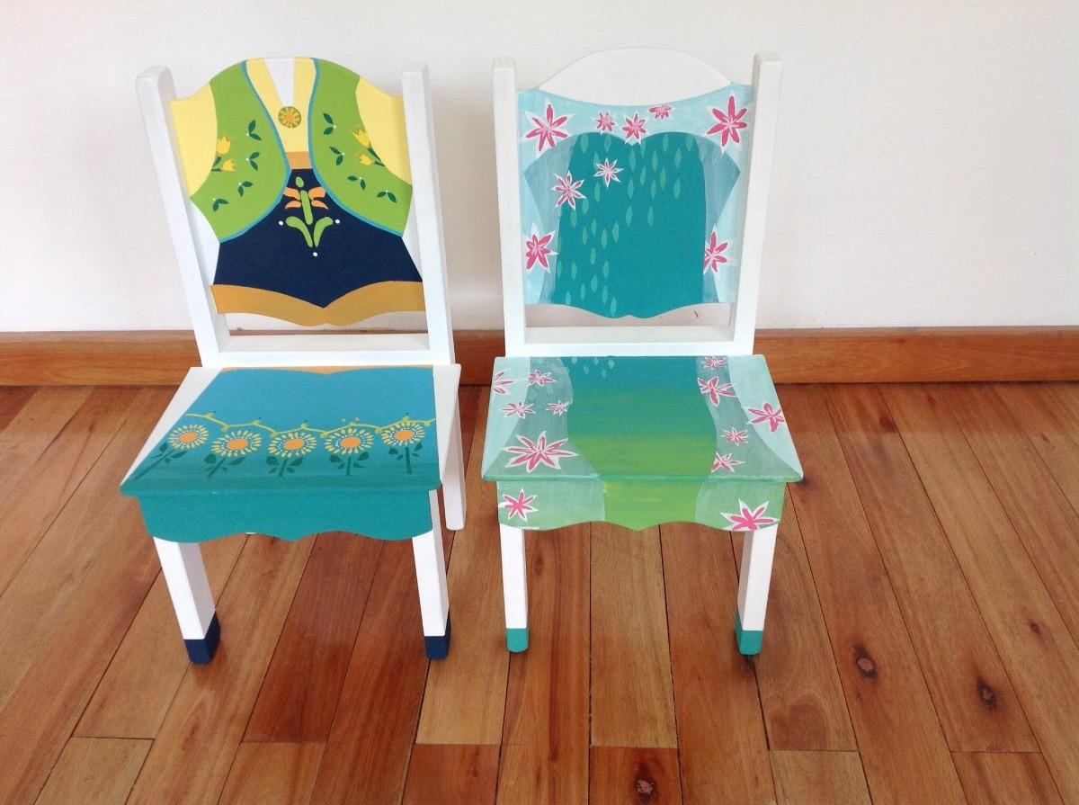 Mesita y sillas infantil tematica frozen ana y elsa 2 - Mesita con sillas infantiles ...