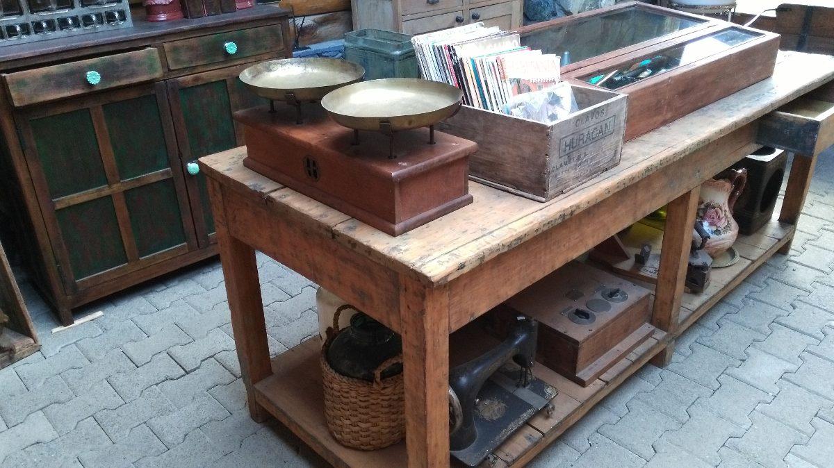 Meson De Roble Macizo Banco De Trabajo Cocina Antiguo - $ 9.500,00 ...