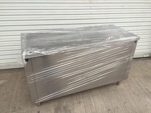 mesón módulo acero inox 140x60 cms envío gratis todo chile