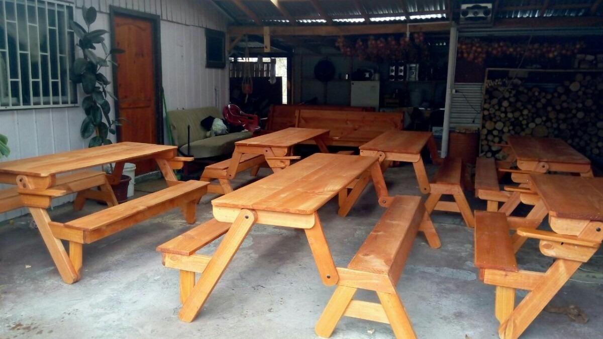Meson banca de madera abatible en mercado libre for Mesones de madera