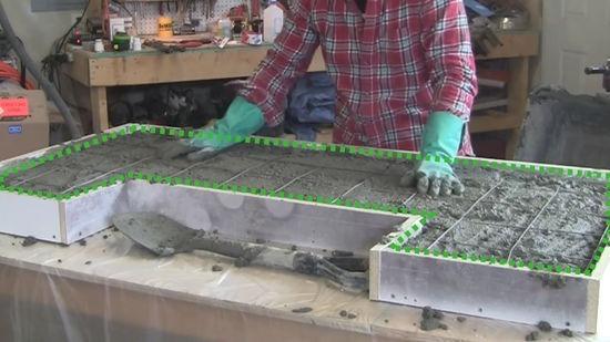 Mesones de granito vaciados bs 150 00 en mercado libre for Cuanto sale hacer una piscina de cemento