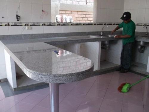 Mesones de granito marmol todo lo relasionado con for Mesones para cocina