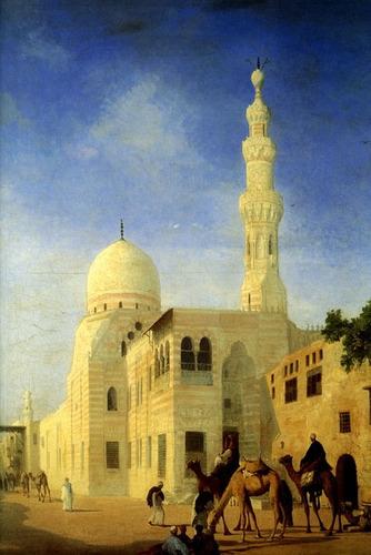 mesquita de kaid bey cairo egito pintor mouchot tela repro