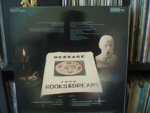 message from books and dreams  importado lp krautrock
