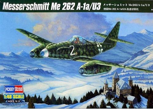 messerschmitt me 262 a-1a/u3 escala 1/48  hobbyboss 80371