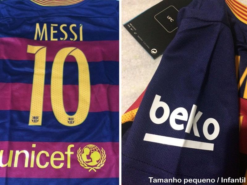 d0e3d43b92bf7 messi - camisa barcelona nova importada espanha infantil. Carregando zoom.