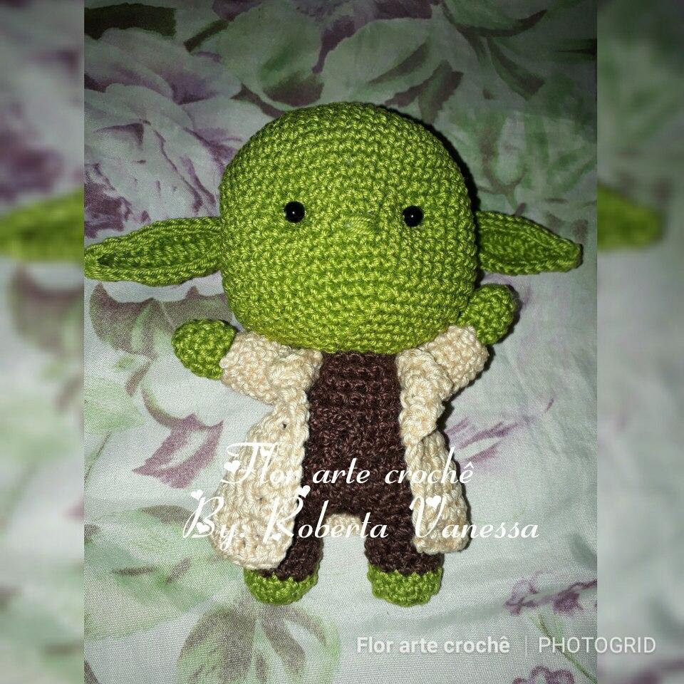 FREE AMIGURUMI PATTERN: Star Wars Yoda | Star wars crochet ... | 960x960