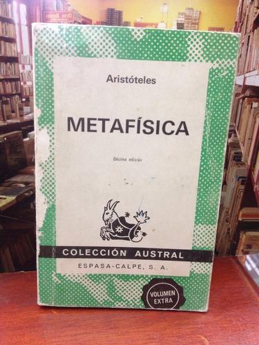 metafisica - aristoteles - ed. espasa-calpe - filosofia