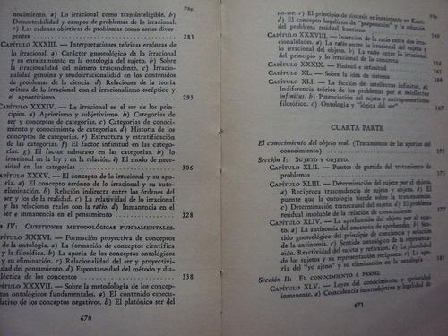 metafisica del conocimiento -tomo 2 por nicolai hartmann