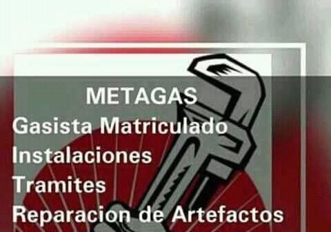 metagas gasista matriculado