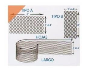 metal desplegado 450-30-30 (1.50x3.00)