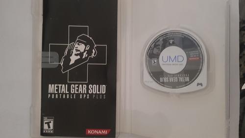 metal gear psp