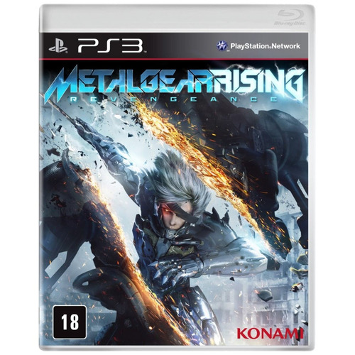 metal gear rising revengeance ps3 original lacrado português